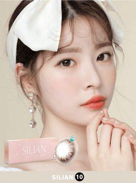 A beautiful Asian Girl wear Ann365 Ann Silian Daily Color contact lens
