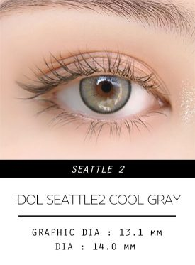 Girl's eyes wear Idol lens seattle2 cool gray color contact lens