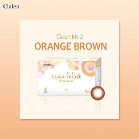 A Clalen iris 2 orange brown Colored contact lens photo