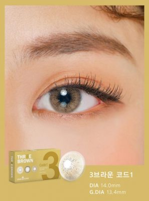 Eyes wear Ann365 3 Brown Code 1 color contact lens