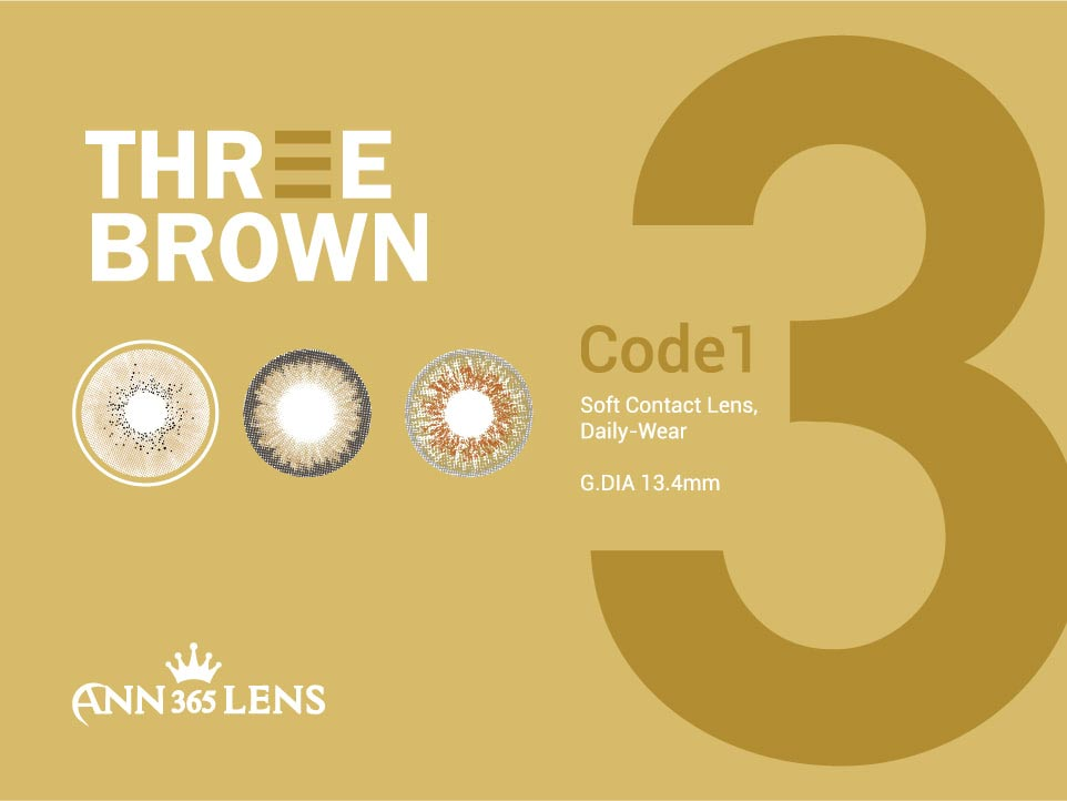3 layers brown color contact lens