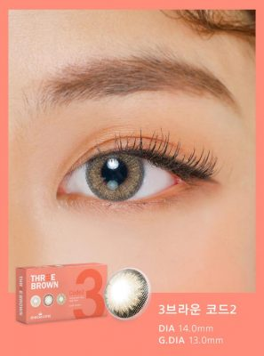 Eyes wear Ann365 3 Brown Code 2 color contact lens