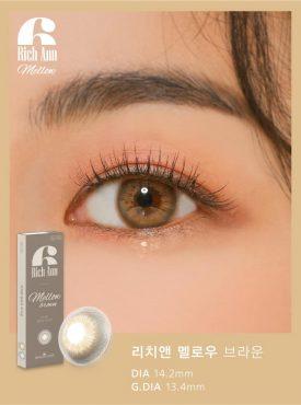 Eyes wear rich ann mellow brown color contact lens