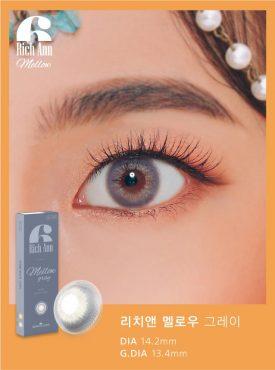 Eyes wear rich ann mellow gray color contact lens