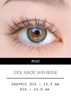 Girl's eyes wear IDOL LENS MADE SKIN BEIGE color contact lens