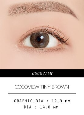 Girl's eyes wear COCOVIEW TINY BROWN color contact lens