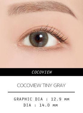Girl's eyes wear COCOVIEW TINY GRAY color contact lens